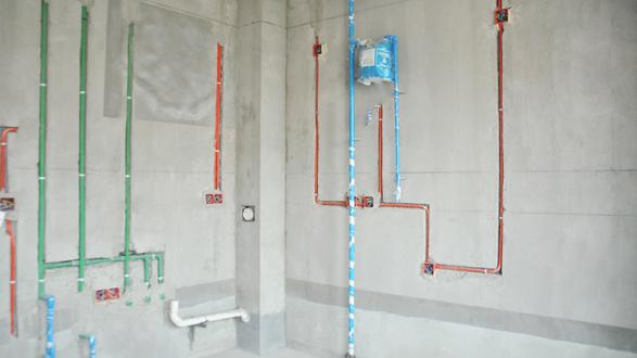 下水管装修效果图